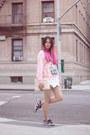 Light-pink-3mongkis-sweater-ivory-zara-bag-white-zara-shorts
