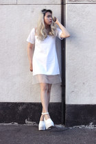 white Nefertiti dress - white Jeffrey Campbell heels
