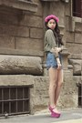 Blue-zara-shorts-hot-pink-inspiredbyluce-accessories