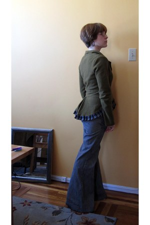 thrifted pants - Anthro cardigan