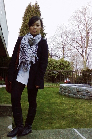 random scarf - Chinese Laundry boots - song jacket