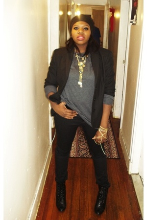 united colors of benetton blazer - Urban Outfitters sweater - H&M pants - payles