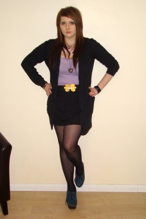 Miss Selfridges skirt - Urban Outfitters sweater - H&M vest - Office shoes
