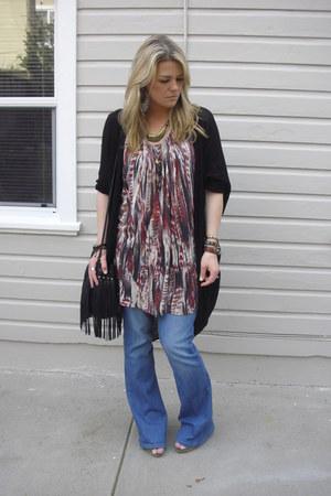 H&M dress - Zara jeans - H&M bag - American Apparel cardigan