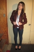 Linda AllanEllen Tracy blazer - Forever21 shirt - White Hot Skinny jeans - H&M s