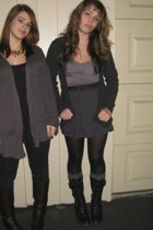 JCrew sweater - American Apparel skirt - Nordstrom blouse - delias boots - H&M b