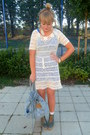 White-crochet-forever-21-dress-turquoise-blue-underneath-topshop-dress