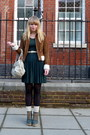 Tawny-forever-21-jacket-forest-green-asos-dress-teal-asos-shoes-cream-misc
