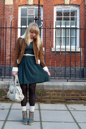 tawny Forever 21 jacket - forest green asos dress - teal asos shoes - cream Misc