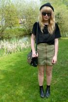 asos boots - H&M hat - Ebay sunglasses - H&M skirt