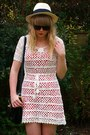 White-crochet-forever-21-dress-red-topshop-dress-ebay-sunglasses