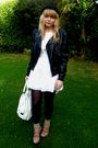 Black-miss-selfridge-jacket-white-dahlia-dress-beige-dads-socks-pink-asos-