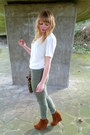 Tawny-forever-21-jacket-dark-khaki-jeggings-next-pants-white-vintage-blouse