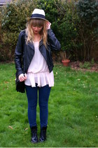 Ebay boots - H&M jeans - Accessorize hat - thrifted Primark blouse