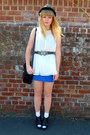 Blue-topshop-dress-black-thrifted-jane-shilton-bag-cream-topshop-blouse-cr