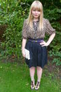 Brown-primark-blouse-black-h-m-skirt-next-shoes