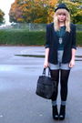 Black-jaques-vert-blazer-green-topshop-top-silver-miss-selfridge-shorts-bl