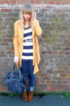 H&M jeans - mustard vintage blazer - navy Topshop bag - tawny Dahlia belt - stri