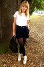 White-next-t-shirt-blue-river-island-shorts-beige-topshop-socks-beige-love