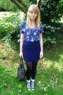 Blue-vintage-blouse-blue-topshop-skirt-black-vintage-bag-labrynth-vintage-