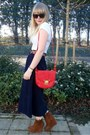 Red-luluscom-bag-tawny-forever-21-jacket-navy-vintage-skirt