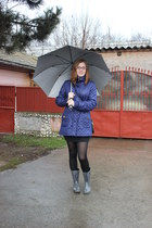 secand hand coat - Diesel boots - Terranova skirt