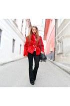 Cristina Elena Radu coat - leather Mango bag