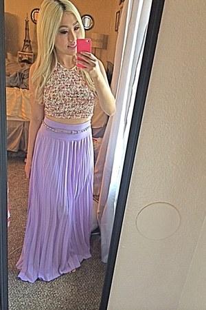 lavender maxi DDS DISCOUNT dress - Wetseal shirt