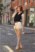 lucca couture shorts - chiffon back Uposon Downes blouse - Coach Mens belt
