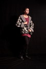 Black-handmade-coat-ruby-red-knit-tunic-unknown-top