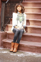 Impeccable Pig blouse - Zara boots - J Crew shirt