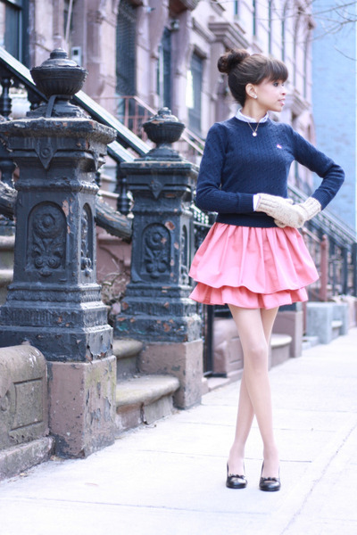 H&M skirt - Brooks Brothers sweater