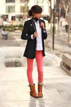 Tobi blazer - leather Zara boots - Urban Outfitters jeans - Ralph Lauren blouse