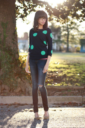 J Crew sweater - j brand jeans - Lulus flats