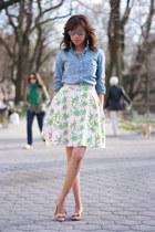 Lilly Pulitzer skirt - J Crew shirt - J Crew flats