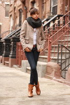Chunky Scarf and Oversized Blazer