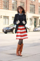 Etsy skirt - Frye boots - Brooks Brothers sweater - Tobi blazer - Jcrew shirt