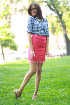Club Monaco skirt - JCrew vest - Zappos pumps