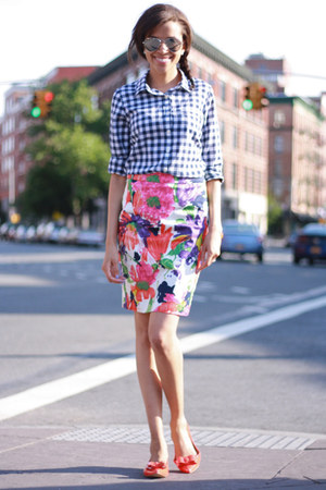JCrew skirt - J Crew shoes - J Crew shirt