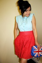 white union jack asoscom bag - red polkadot vintage from Ebay romper