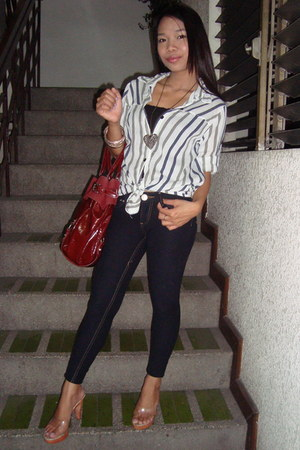 Charles &amp; Keith bag - Primadonna heels - Mango pants - The Ramp top