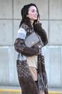 Dark-brown-thrifted-bakers-boots-heather-gray-liz-claiborne-purse