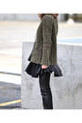 Black-dolce-vita-boots-army-green-thrifted-wool-ivory-sweater