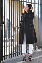 black trench banana republic coat - turtleneck thrifted sweater
