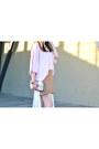 White-coach-bag-white-bongo-cardigan-camel-thrifted-gap-skirt