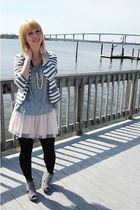gray Urban Outfitters cardigan - gray TJMaxx shirt - pink Charlotte Russe skirt