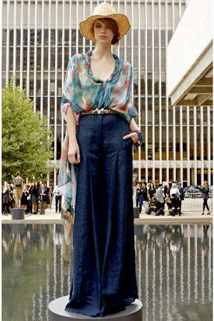 navy denim catherine malandrino pants