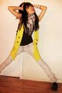 Gold-dark-harts-vest-black-rocket-dog-shoes-gray-zara-italia-jeans-silver-