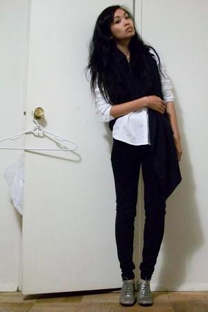 Zara shirt - Zara vest - Zara pants - Nine West boots