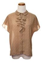 beige vintage blouse